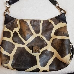 Vintage Dooney & Burke Giraffe Print Bag Real